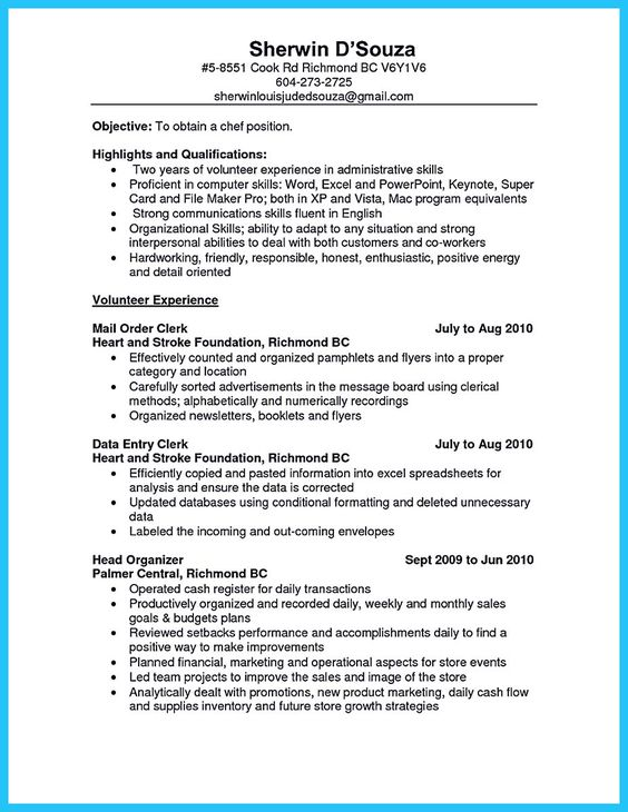 nice Excellent Culinary Resume Samples to Help You Approved, Check - resume for barista