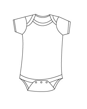 onesie outline - Google Search - Baby shower ideas - Pinterest - Clip ...