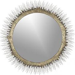 Clarendon Small Mirror This gold sunburst mirror is gorgeous