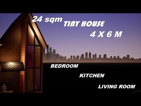 Ep 39 24 Sqm House Tiny House Desain Rumah Minimalis 6x4 Casa De 4x6 House 4x6 Rumah Kecil Micro Youtube Tiny House Micro House House Hotel room design 4x6 desain