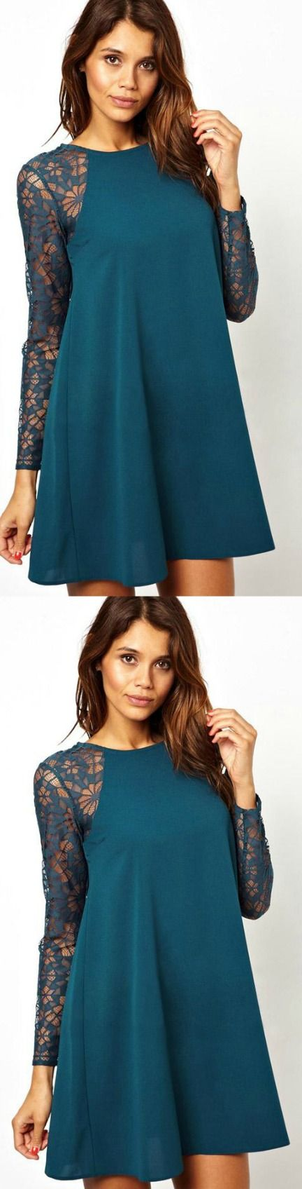 Spring Fashion Casual Dress! Click The Image To Buy It Now or Tag Someone You Want To Buy This For.  #BlueCasualDress