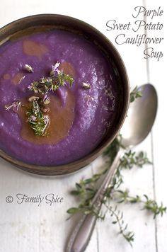 Thanksgiving Soup: Purple Sweet Potato Soup ~ love the color :-)