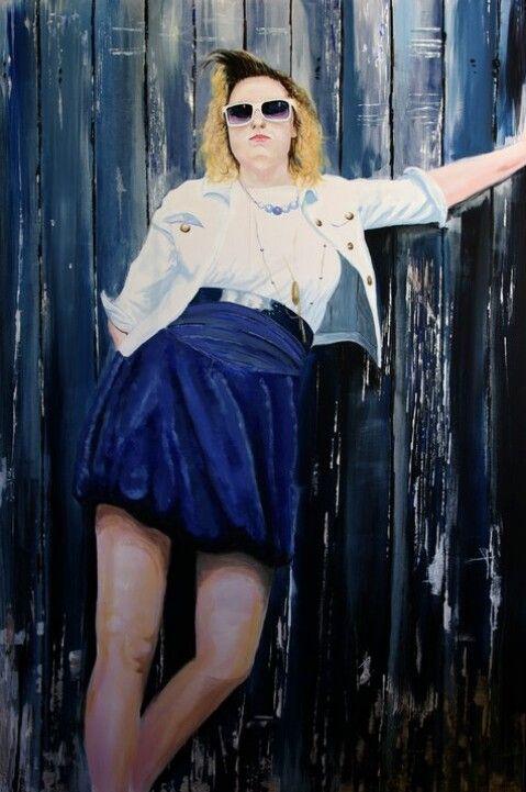 'Emma' by Matt Hartmann. Acrylic on canvas.
