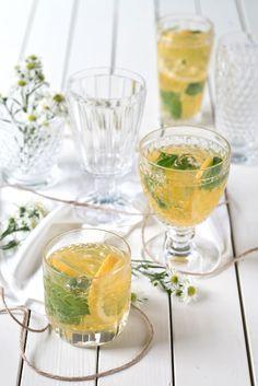 limoncello mit basilikum