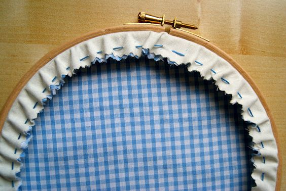 How To Finish Off The Back Of An Embroidery Hoop - Tutorial | Pano Hazirlama | Pinterest ...