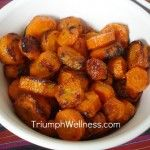 Healthy Snacks: Roasted Chickpeas; Roasted Carrots