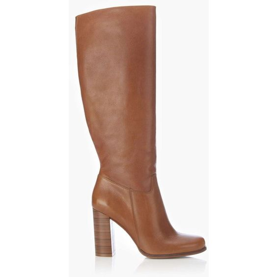 Tan Leather High Leg Boot ($175) ❤ liked on Polyvore featuring shoes, boots, tan, tan boots, genuine leather boots, tan leather boots, leather boots и knee high leather boots