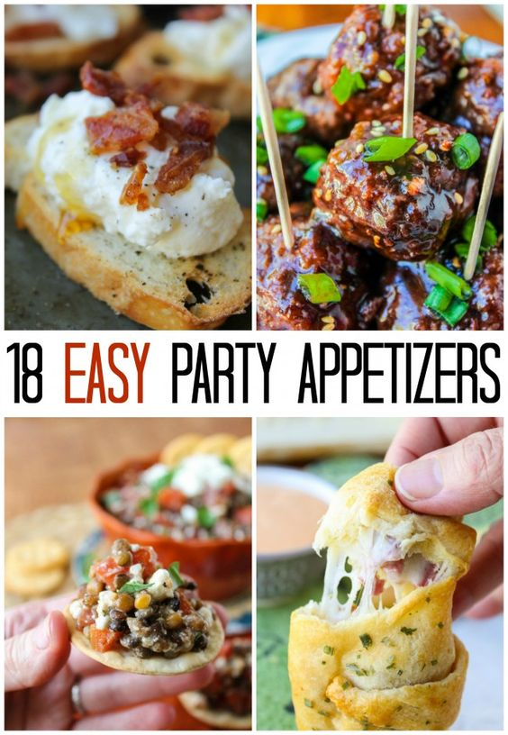 18 easy appetizer ideas for new year 39 s eve lasagne pot for Appetizer ideas for new years eve party