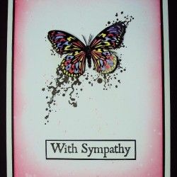 Visible Image stamps - Inky Butterfly - With Sympathy - Pauline Butcher