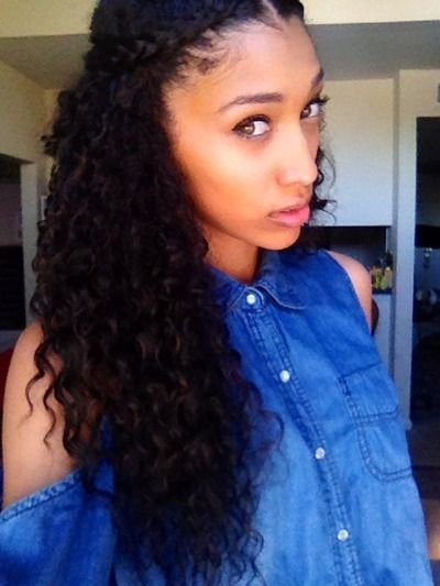 Cool Twists Graduation And Curly Hair On Pinterest Short Hairstyles Gunalazisus