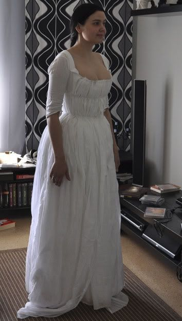 Before the Automobile: 1780's chemise à la Reine, 2011 - hmm... I like it without the ruffle and puffy sleeves!