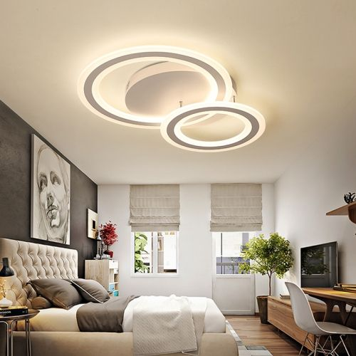 Modern Lighting Led 3 Rings Semi Flush Mount Ceiling Light For Bedroom Living Room Kitchen Bedroom Ceiling Light Chandelier In Living Room Living Room Ceiling
