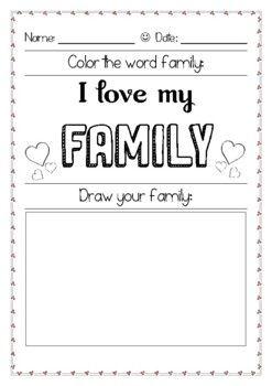 Nice my family worksheet ideas
