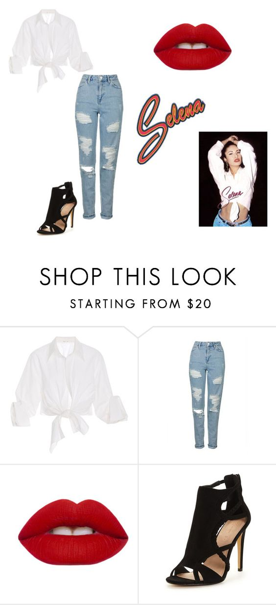 """Selena"" by minniemousebae on Polyvore featuring Johanna Ortiz, Topshop and Lime Crime"