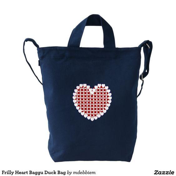 Frilly Heart Baggu Duck Bag Duck Canvas Bag