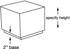 Cube Tables w/Recessed Base - LUI Plus