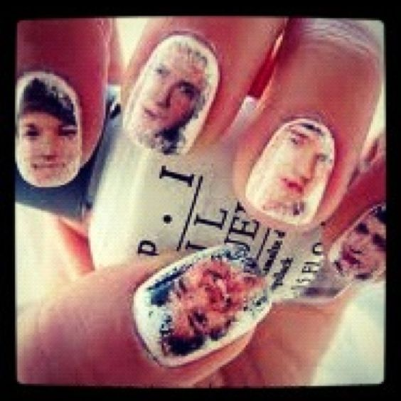Nails with the one direction boys faces on it? YEESS., also wanted to show you a new amazing weight loss product sponsored by Pinterest! It worked for me and I didnt even change my diet! I lost like 16 pounds. Here is where I got it from cutsix.com