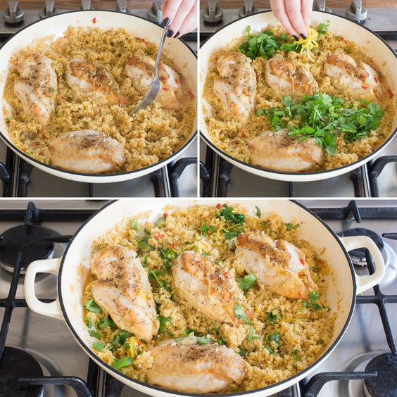 Follow this easy recipe to make One-Pot Lemon Chicken Couscous for dinner.