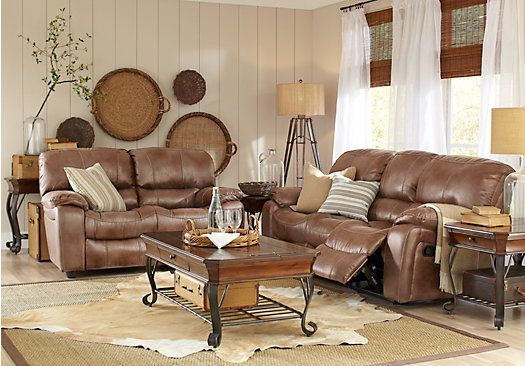 shop for a cindy crawford home alpen ridge chocolate 7 pc living room at rooms to go find living room sets that will look great in your home and cu2026 - Cindy Crawford Furniture
