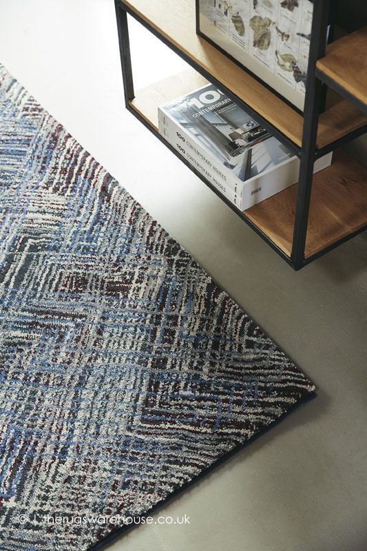 New In Crayon Blue Mix Rug By Brink Campman A Multi Coloured Modern Wool Tencel Blend Rug That Is Soft To The Touch Modern Rugs Rugs Modern Wool Rugs