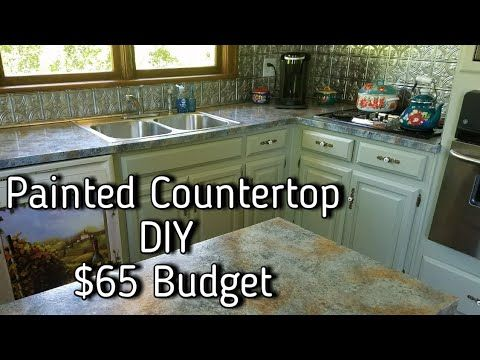 How To Paint Countertops Looks Like Slate 65 Diy Budget