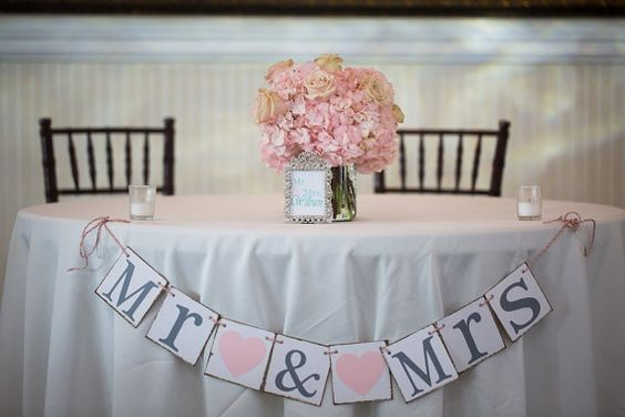 MR & MRS Wedding Banner on heavy weight chip board NOT card stock-chipboard is a cardboard like material with a smooth finish. Our letters are