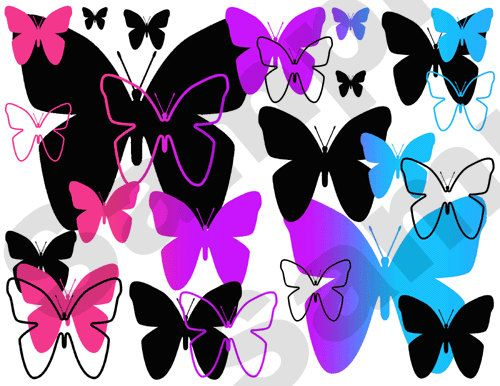 Rainbow butterfly wall border decals for teen girls room abstract stickers   Gorgeous design and bright vivid colors  decampstudios   Pinterest    Colors. Rainbow butterfly wall border decals for teen girls room abstract