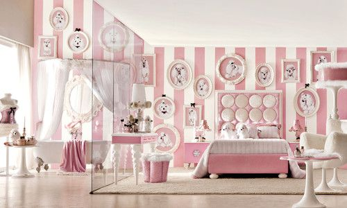 slightly over the top Lolita pink bedroom for girls