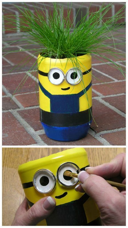 Minions creative kids and cute minions on pinterest for Homemade recycling projects
