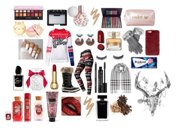 """Christmas Love"" by rosegirlxox on Polyvore featuring Givenchy, Rodial, Burberry, SOREL, NARS Cosmetics, Urban Decay, Narciso Rodriguez, Victoria's Secret, Giorgio Armani and Neiman Marcus"