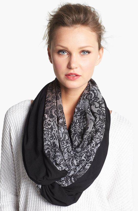 Collection XIIX Lace Print Infinity Scarf | Nordstrom