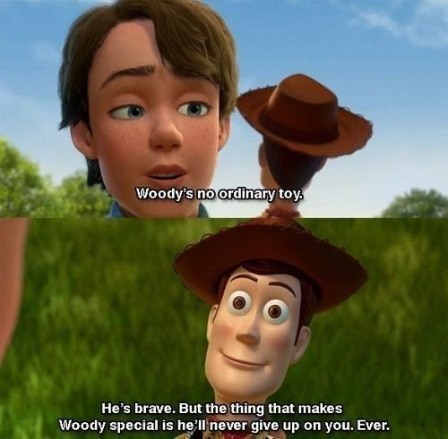Andy In Toy Story 3 Woody S No Ordinary Toy He S Brave In 2020 Disney Funny Toy Story Quotes Toy Story 3