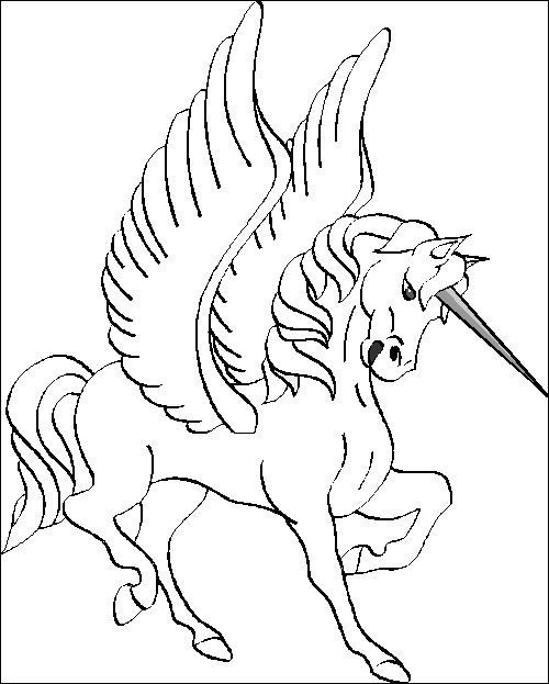 Coloriage Licorne Ailee Horse Art Coloring Pictures Art