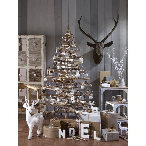D co de sapin de no l for t scandinave maisons du monde - Petite maison de noel decoration ...