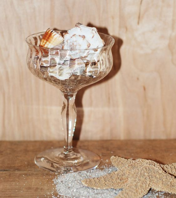 Antique Crystal Champagne Glass filled with by theupcycledcottage, $12.00