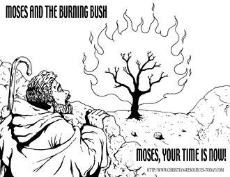 Moses And The Burning Bush Printables