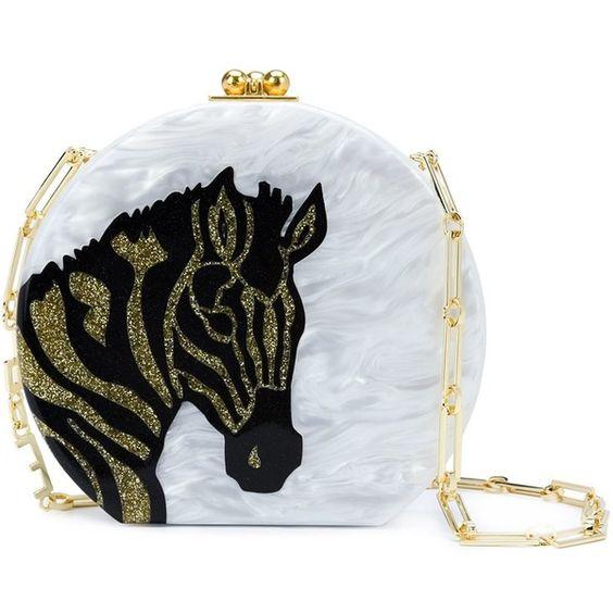 Edie Parker Marble Effect Shoulder Bag ($1,595) ❤ liked on Polyvore featuring bags, handbags, shoulder bags, white, strap purse, shoulder bag handbag, shoulder hand bags, white purse and white shoulder handbags
