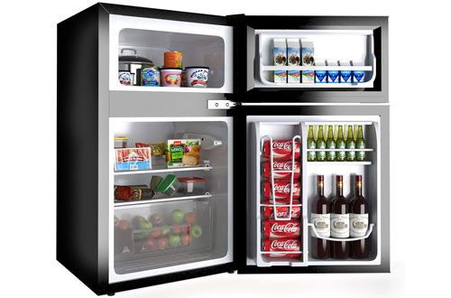Top 10 Best Compact Refrigerators With Freezer Reviews In 2020 Compact Refrigerator Small Refrigerator Big Refrigerator