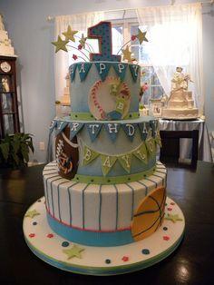 Jayden birthday on Pinterest   Boys 1st Birthdays, Sports Birthday ...