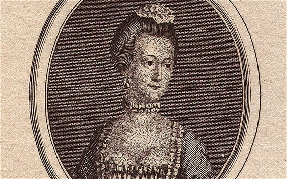 The courtesan Nancy Parsons as she appeared in Town and Country Magazine. Her image was one in a series of portraits of celebrated 18th-century beauties.