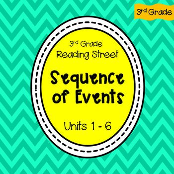 3rd Grade Reading Street Sequence Of Events Units 1 6 Reading Street 3rd Grade Reading Reading