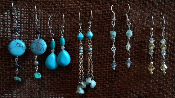 Hand made Silver & Turquoise earrings hand made by Echota Native American Artist. Special orders accepted. $15 each