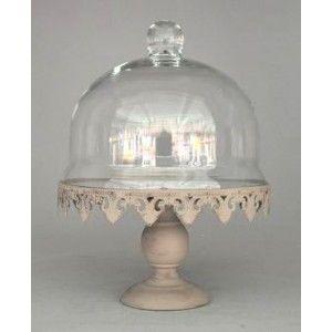 tr s beau pr sentoir g teau en fer forg couleur zinc patin avec en verre transparent le. Black Bedroom Furniture Sets. Home Design Ideas