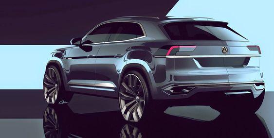 Car design sketching VW