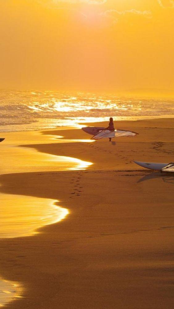 Ocean, Beach, Waves, Surf, Windsurf
