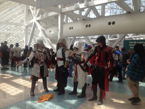 Anime Expo 2014. Great Assassins Creed cosplays.