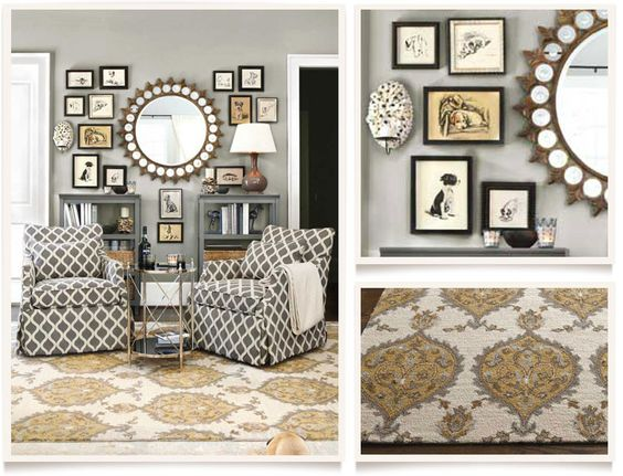 Light Grey Walls Gold Accents Allegro Living Room Furniture Collection Ballard Designs For
