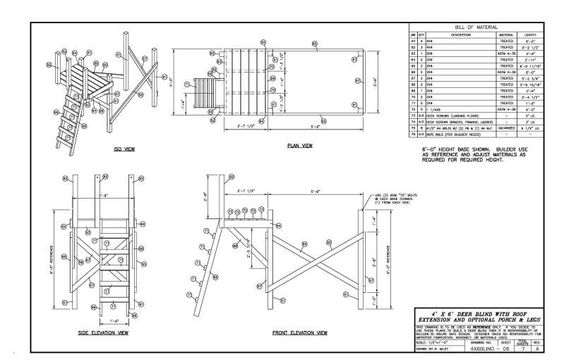 4x6 deer blind plans loc magnolia tx the hunting for 4x6 shooting house plans