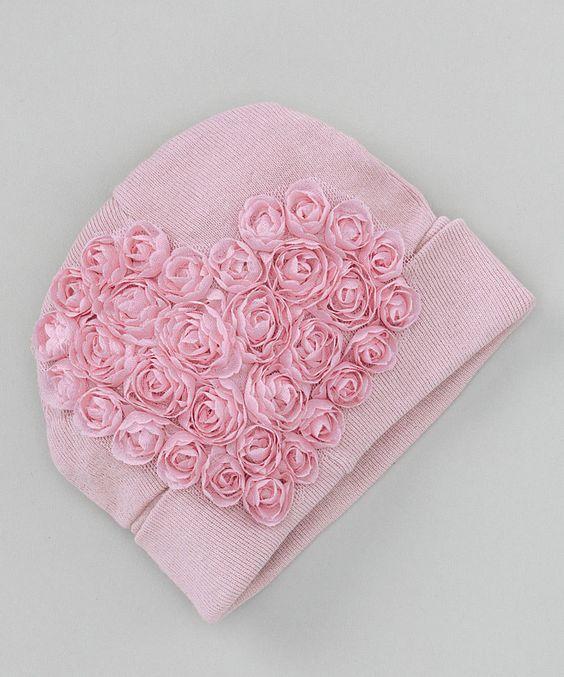 Look what I found on #zulily! Truffles Ruffles Dusty Pink Sweetheart Beanie - Kids by Truffles Ruffles #zulilyfinds