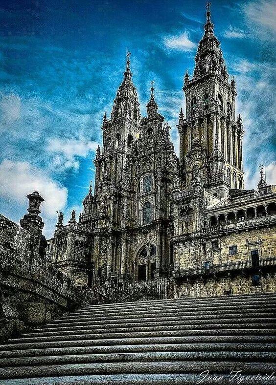 Catedral de Santiago de Compostela.  Galicia.  España.